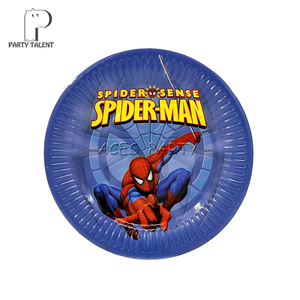 Image 2 - Party supplies 48 ชิ้น Hero Spiderman party เด็กวันเกิดชุดชุด 24 ชิ้นแผ่นขนมหวานจานและ 24 ชิ้นถ้วยแว่นตา