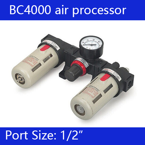 Free shipping BC Series Three-point Combination 1/2'' air source treatment unit BC4000 Three Units ac4010 06 smc type 3 4 port air source treatment unit f r l combination