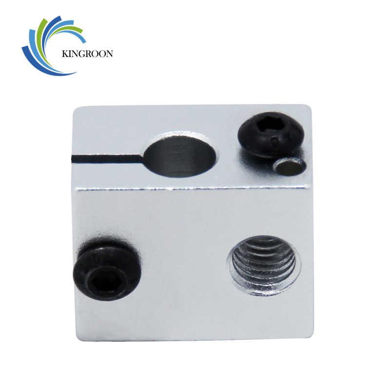 Alüminyum V6 Isı Bloğu Için V5 V6 j-kafa Ekstruder HotEnd 3D Yazıcılar Parçaları Isıtıcı Sıcak Sonu Isıtma Aksesuarları 20*16*12mm Bölüm 1