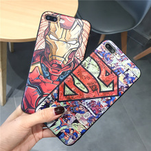 New Superhero Case For iphone X XS Max XR 7 8 Plus 6 S Marvel Avengers Superman Silicone Phone