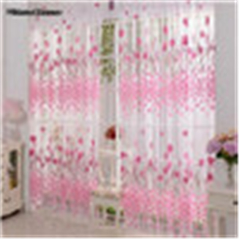 Warm Corner LM  Floral Tulle Door Window Curtain Drape Panel Sheer Scarf Valances Free Shipping Sept 5