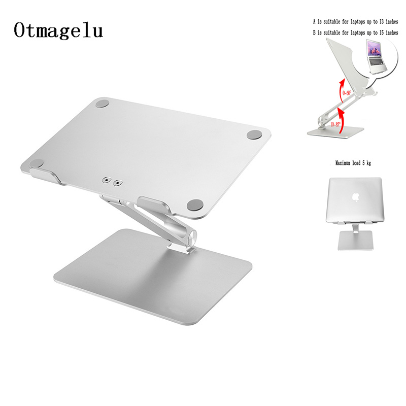 Aluminum Alloy Laptop Cooling Holder Portable Folding Adjustable Notebook Support For MacBook Air Pro Stand Laptop Accessories