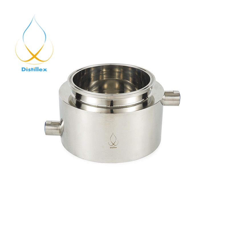 4 x 4 Jacket Platter Tri Clamp Sanitary stainless steel 304 BHO close loop extractor