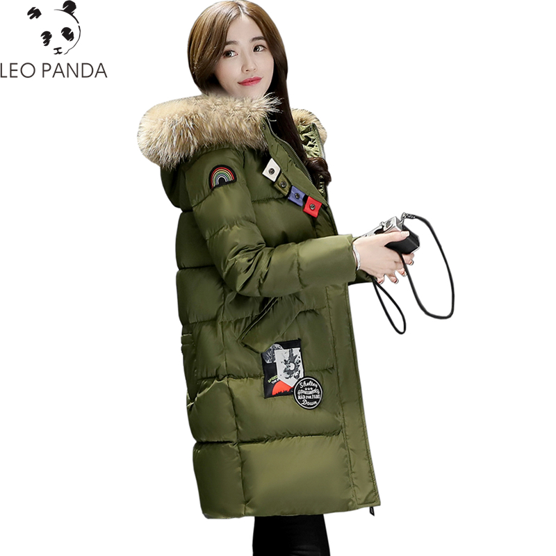 2017 New Winter Women Padded Jacket High Quality Ladies Wadded Coat Warm Cotton Coat Fashion Long Zipper Parkas Plus Size WQ507 high quality women winter parkas 2017 new fashion female medium long loose cotton padded wadded jacket coat plus size 3xl cxm206