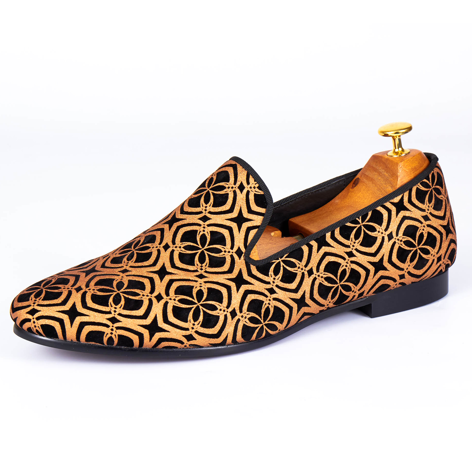 Harpelunde Men Casual Shoes Shinny Loafer Shoes New Arrival Printed Flats Size 7-14 casual men s coconut tree printed boardshorts