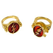 Movie Justice League The Flash Ring Superhero Cosplay Jewelry Halloween Cosplay Drop Shipping(China)