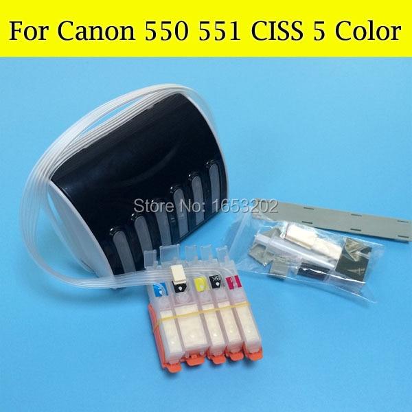 Empty CISS For Canon 550 551 PGI550 CLI551 Compatible For Canon 5450 7250 Printer With ARC