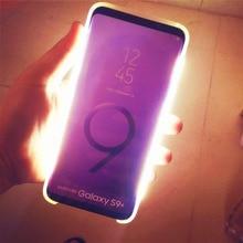 Свет светящийся чехол для телефона для galaxy S9 фото случае Заполните свет артефакт для samsung S9 S8 плюс селфи Mobile Shell для samsung случаях