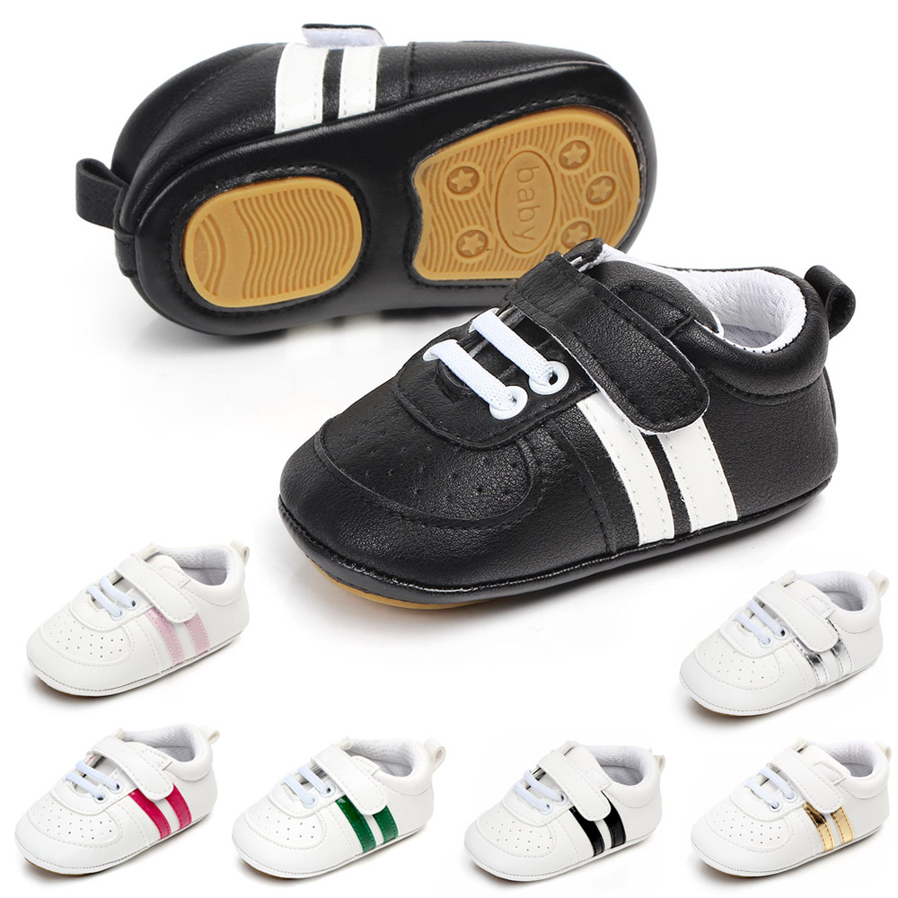 Rubber soled baby boy shoes white infant shoes leather rubber sole shoes for