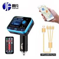 Hot LCD Display FM Transmitter Wireless Bluetooth FM Modulator Handsfree Car Kit Car Charger MP3 Audio