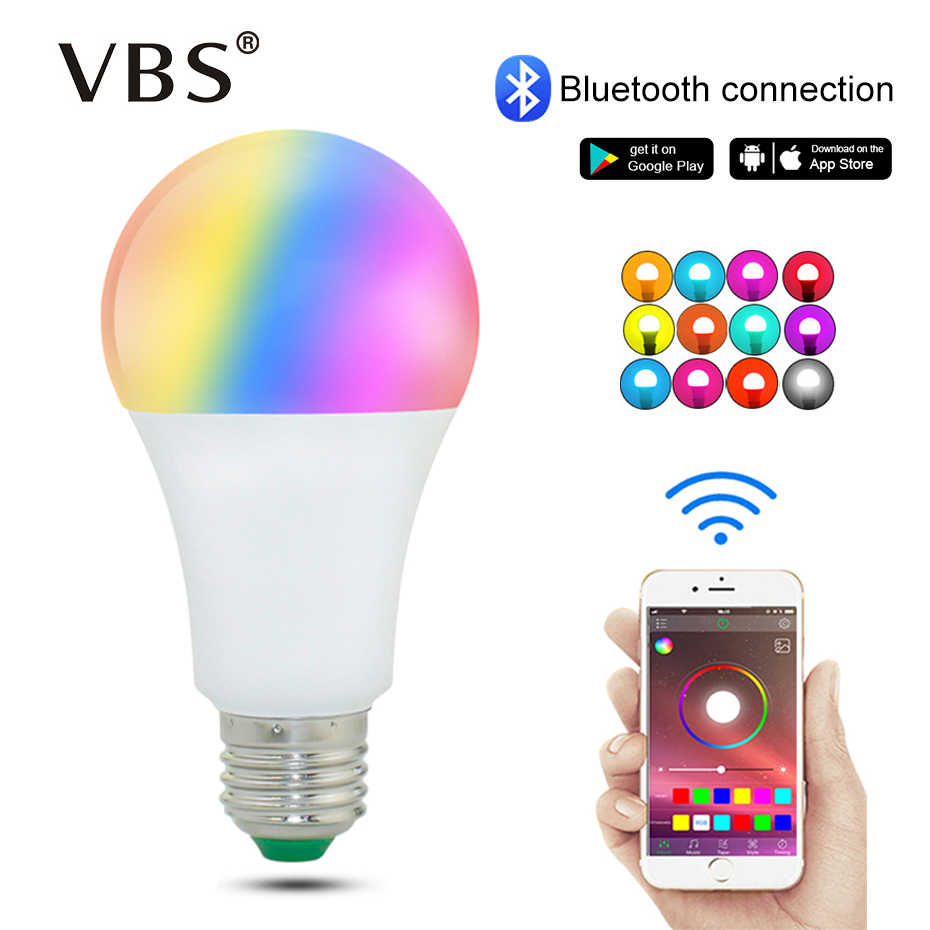 E27 RGB Bulb 220V 110V Magic Led Lamp B22 RGBW Wireless Bluetooth 4.0 Smart Bulb Light Color Control By Via App 16 Million Color