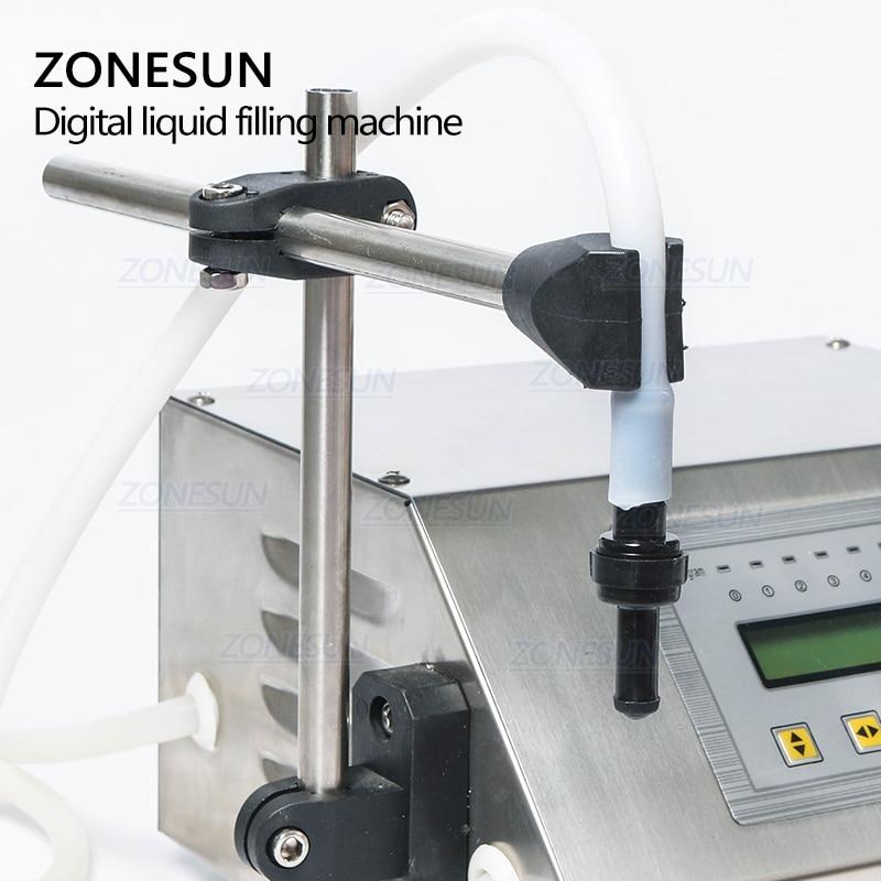 ZONESUN 5-3500ml Digital de Control de agua de beber Alcohol de leche de jugo de llenador de botellas pequeñas de GFK 160 máquina de llenado de líquidos - 5