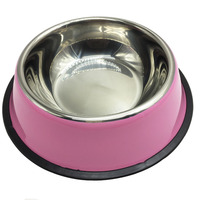 Dog Cat Food Water Bowl Dishes Dishes No Harm 5 Candy Colors Holder Melamine Pet Stainless