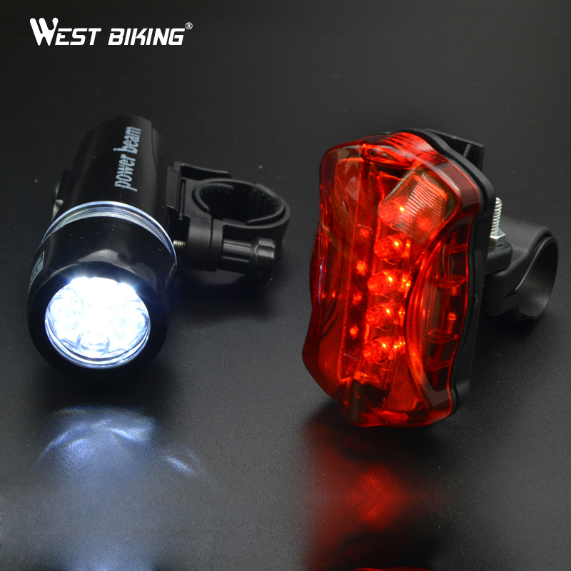 WEST BIKING Cycling Light Bike Head Flash Front Light Rear Flashlight Warning Cycling Bicycle 5 LED Lamp Light Bicycle Light аксессуар защитное стекло для samsung galaxy a5 2017 a520f svekla full screen black zs svsga520f fsbl