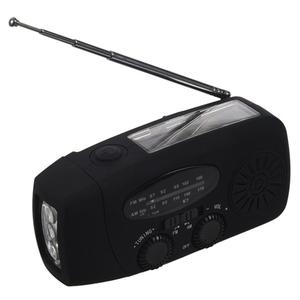 Outdoor Solar Hand-Cranked Radio With Fl
