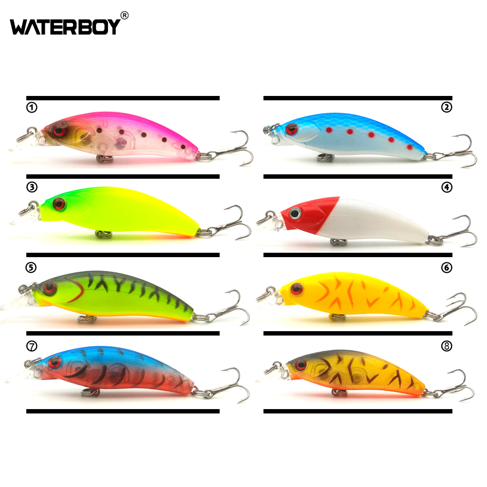 WATERBOY Mini Minnow Fishing Bait 5.2cm /2in 3g/0.1OZ Iscas Fish Wobblers Swimbait Peche Small Size New Hard Artificial Lure