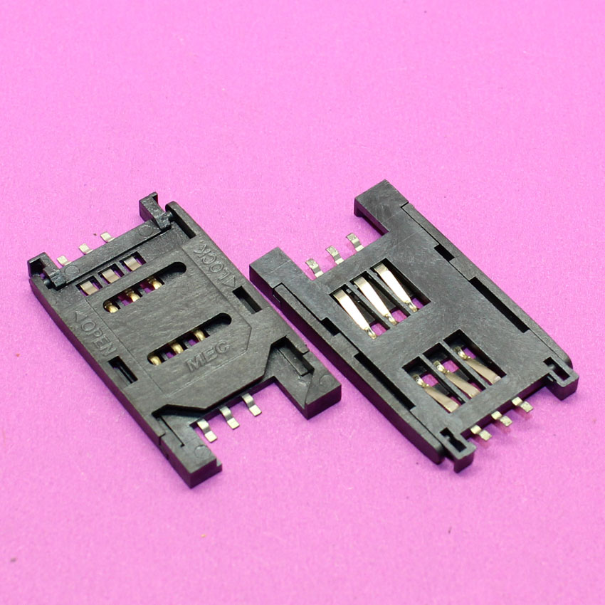 YuXi New Sim card reader tray slot 6P SMT TF Memory Card Socket / Slot / Seats/ Holder for phone