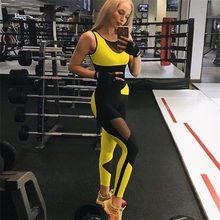 SALSPOR-monos de Yoga para mujer, ropa deportiva Sexy con espalda descubierta para gimnasio, Costura de malla, Fitness, correr, entrenamiento de Yoga
