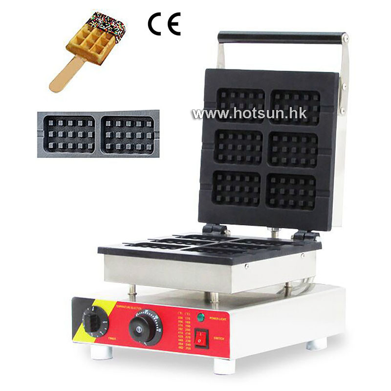Free Shipping Electric 110V 220V Nonstick Commercial Belgian Liege Waffle Stick Lolly Waffle Maker Iron Machine Baker 1pc np 511 110v 220v electric commercial nonstick heart shape lolly waffle stick maker iron machine baker stainless steel 1 5kw