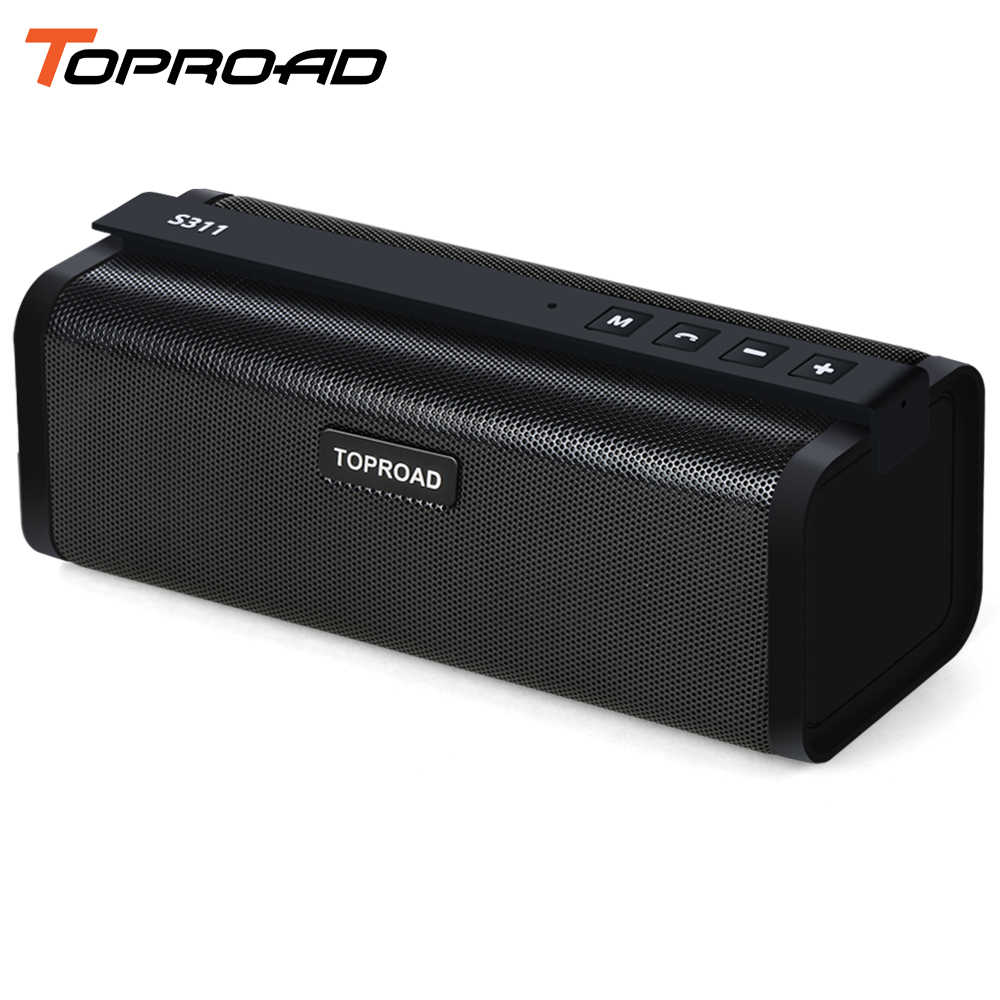 Toproad Stereo Nirkabel 10W Hi Fi Bluetooth Speaker Portable Bass Surround Sound Kolom Kotak Mendukung TF AUX FM USB Handsfree