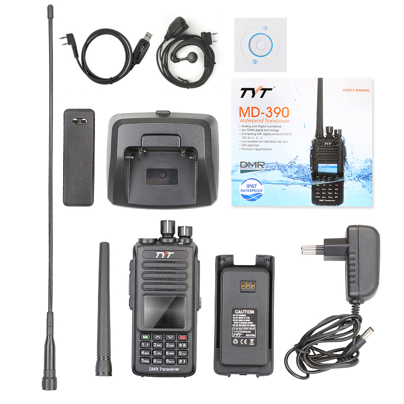 Image 5 - Brand New TYT Upgrade GPS Waterproof IP 67 VHF DMR Digital Ham Two Way Radio MD 390 Voice Encryption Free Earphone and Cable-in Walkie Talkie from Cellphones & Telecommunications