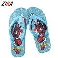 ZiKa Crianças Chinelos de Verão 1-6 Anos As Crianças Do Homem Aranha Meninos Meninas Verão Flip Flop Suave Sole Anti-slip chinelo Sandálias de Praia