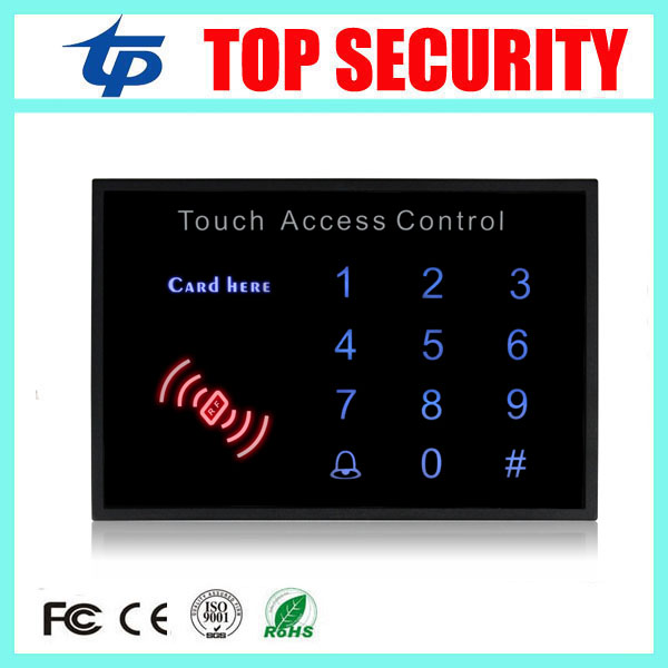 5pcs/lot 125KHZ RFID EM card access controller standalone single door access control reader touch led keypad ID access control proximity rfid 125khz em id card access control keypad standalone access controler 2pcs mother card 10pcs id tags min 5pcs
