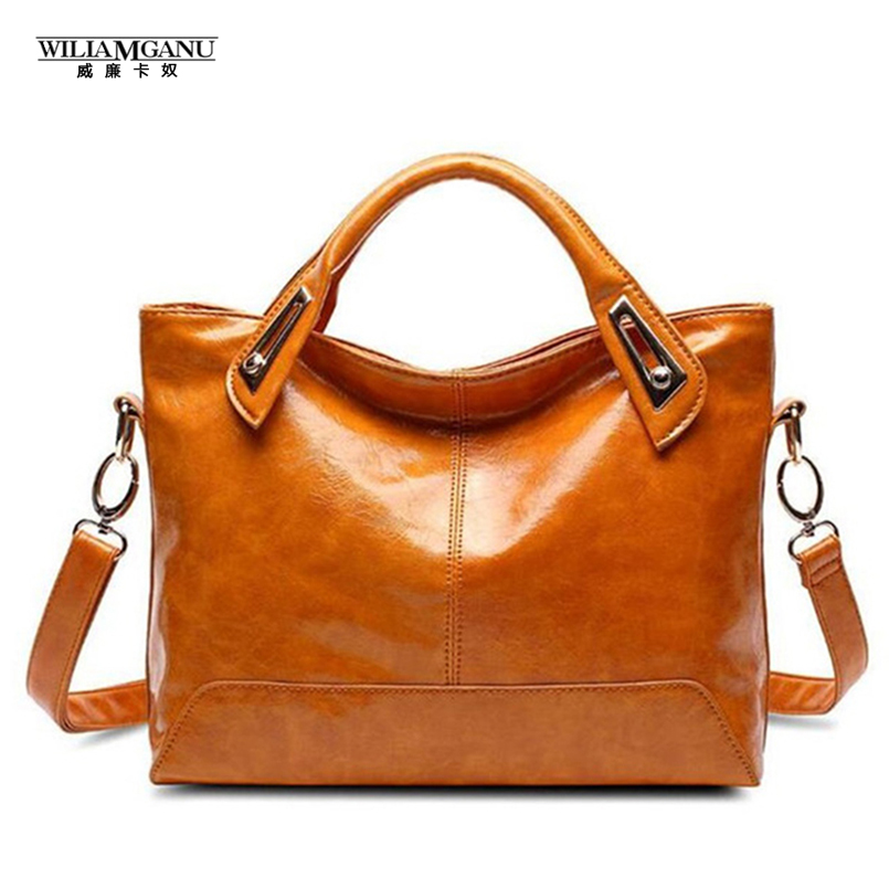 WILIAMGANU 2017 Women Leather Bag Ladies  Handbags High Quality  Main Alligator Organizer Bolsos Mujer Shoulder Tote Bags