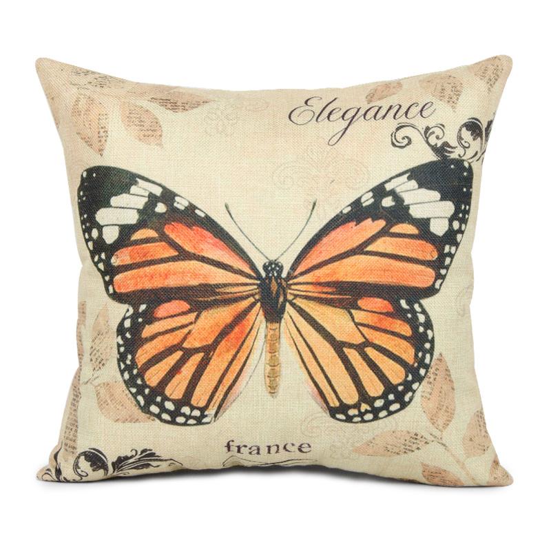 diseo del modelo de mariposa vintage fundas de cojines throw almohada decorativa fundas para sof asiento