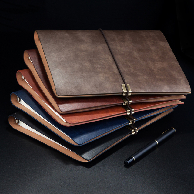 RuiZe Leather notebook cover Spiral notebook A5 planner organizer agenda 2020 B5 note book travel journal diary 6 ring binder