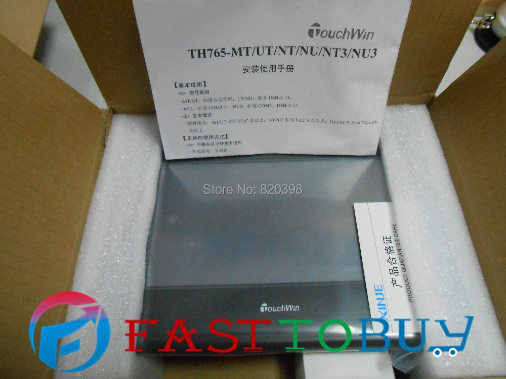 7 Inch HMI   TH765-NU3 New with USB program download Cable th765 nu 7 inch xinje th765 nu hmi touch screen new in box fast shipping