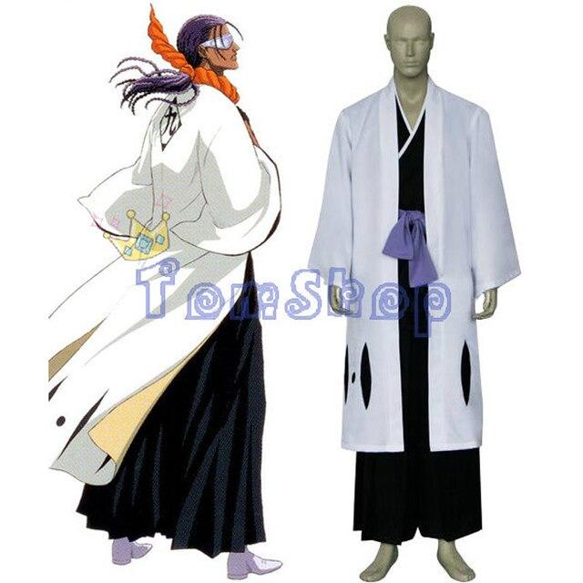 Bleach 9th Division Captain Tousen Kaname Cosplay Kimono Uniform Suit Men's  Costumes with Sandals Custom Size