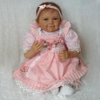 Силикона Reborn Baby Куклы Реалистичного Baby Doll милый коллекции ручной работы реалистично силиконовые жив для девочек подарок на день рождения