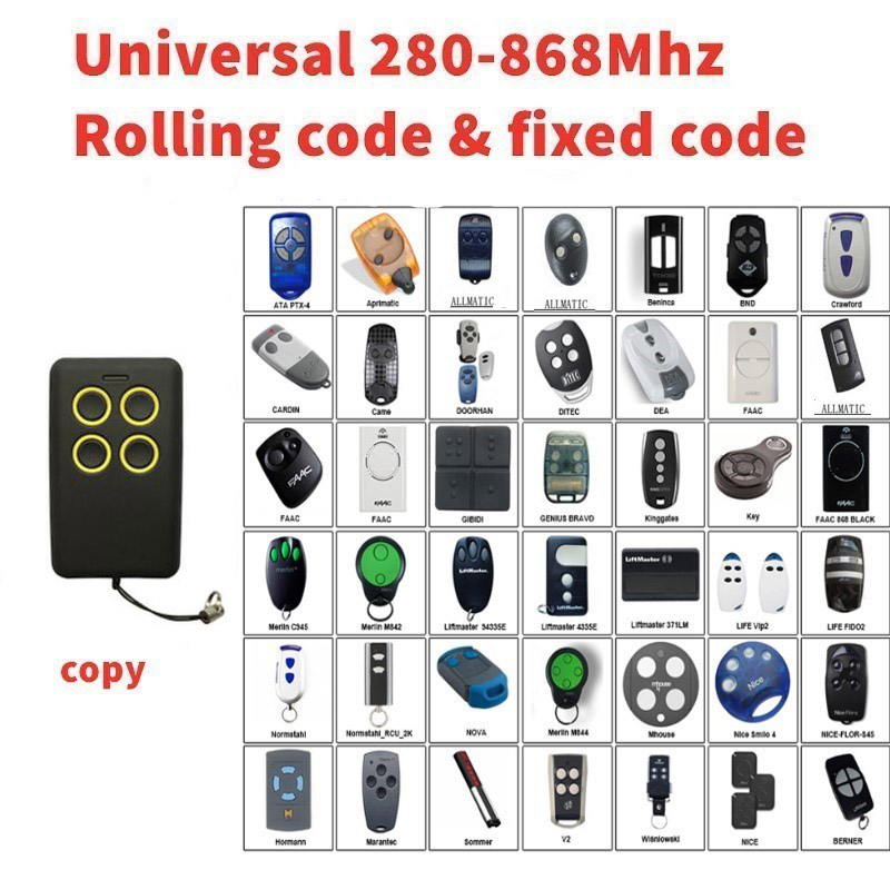 2pcs Multi frequency copy 280-868mhz rolling code garage door remote control duplicator free shipping2pcs Multi frequency copy 280-868mhz rolling code garage door remote control duplicator free shipping
