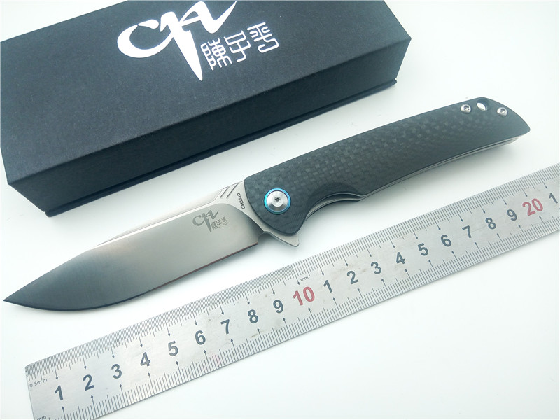 Marque CH CH3510 Pliant Couteau EDC 100% VG10 Lame En Fiber De Carbone poignée Couteau de Poche de camping En Plein Air Chasse Tactique couteau Outils