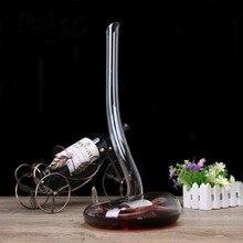 Neueste Design! künstliche Blasen Manuelle Kalt Cut bleifreie Kristall Glas Schlange Transparent Wein Dekanter