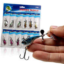 12pcs Fishing Lure Fly Fishing Tackle Feeder Carp Peche Fishhook Fishing Boat All Fish Supplies Lead Lure Set