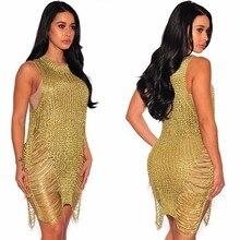 MUXU gold mesh sexy transparent dress short fashion woman clothes ladies dresses womens clothing crochet bodycon elbise jurk