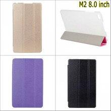 Модные Новые 3 в сложенном виде Silk искусственная кожа Подставка держатель Case Чехол для Huawei MediaPad M2 M2-801W M2-803L M2 8.0 с Стилус