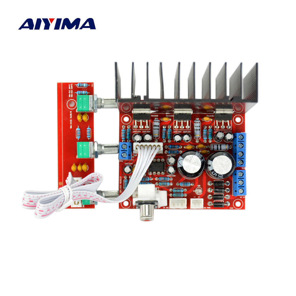 Tda2050 Tda2030 21 Three Channel Subwoofer Amplifiers Board 32w Hi Fi Audio Amplifier With Circuit Diagram Aiyima Lm1875 Fever Speaker Bass Amp