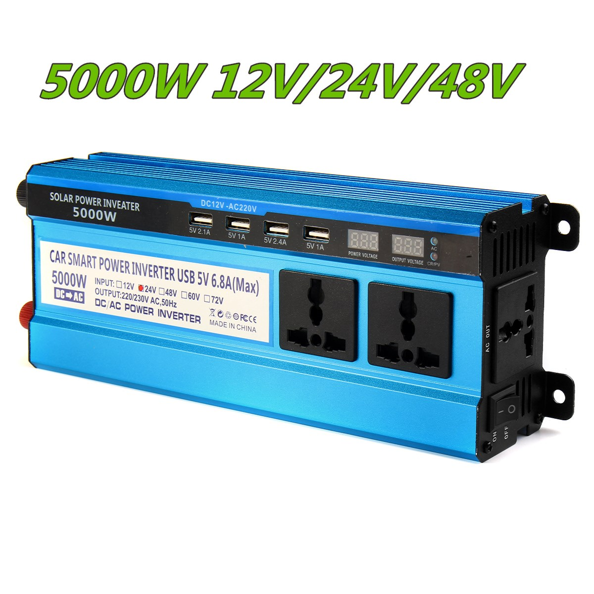 Solar Inverter DC 12V 24V 48V to AC 220V 3000W 4000W 5000W Inverter 20