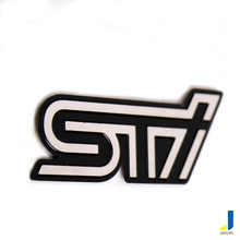 STI Stainless Steel Steering Wheel Labeling Modified Car Personalized Car Stickers Metal Automotive Decorative JSD-3071