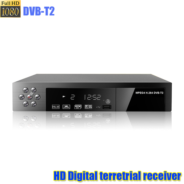 HD digital suporte MP3 formato MPEG4 DVB-T2 digital terrestre receber caixa de tv receptor de tv sintonizador de tv universal HD dvbt2 TV CAIXA