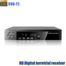 HD numérique terrestre recevoir DVB-T2 soutien MP3 MPEG4 format numérique tv box universel tv tuner tv récepteur dvbt2 HD TV BOÎTE