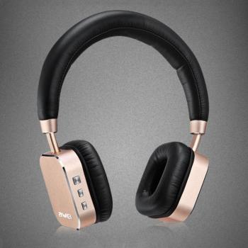 New Awei Portable Metal Wireless Bluetooth Stereo Bass Headphones Headsets Earphones