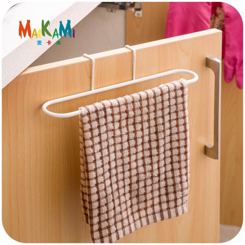 Dishcloth Hanger: Iron Towel Rack Kitchen Cupboard Hanging Wash Cloth