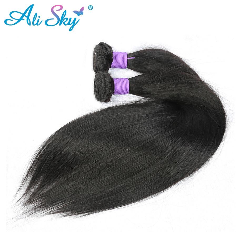 Ali Sky brasilianskt rakt hår Naturligt svart 100% mänskligt hår - Mänskligt hår (svart) - Foto 6