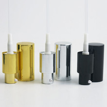 Золото, серебро, алюминий насос для лосьона колпачок с дозатором Топ Используется для 18 мм эфирное масло крем бутылка 30 шт