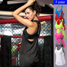 Womens Sports Vest Fitness Yoga Running T-shaped Back Hollow Sling Quick-drying Loose