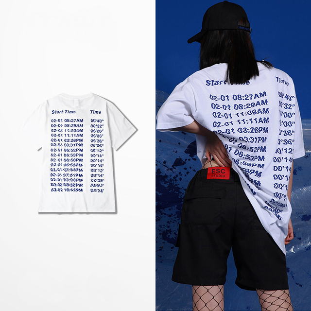 S-XXXL new summer wind port Harajuku Korean alphabet short sleeved t-shirt female tide brand men and women loose couples dress